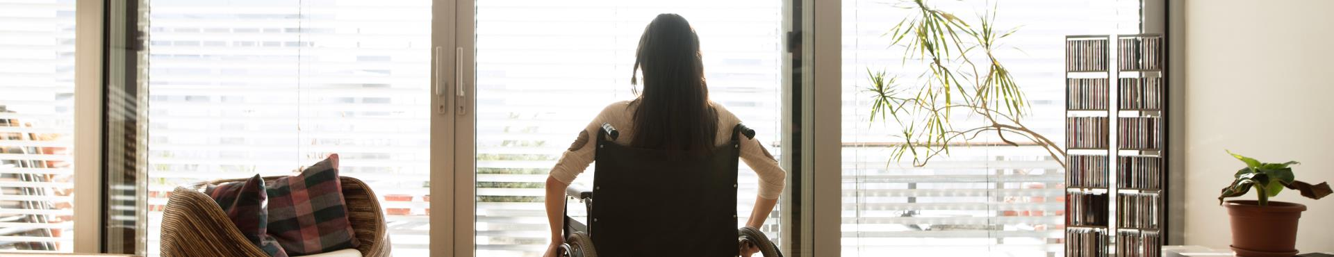 A woman in a wheelchair | Shine Lawyers